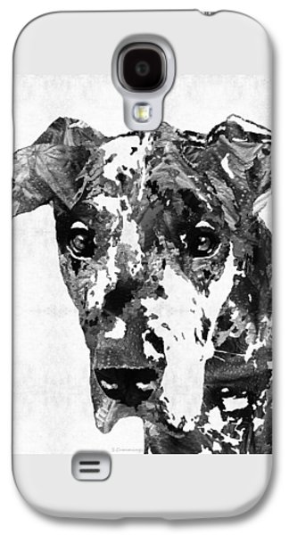 Black And White Great Dane Art Dog By Sharon Cummings Galaxy S4 Case