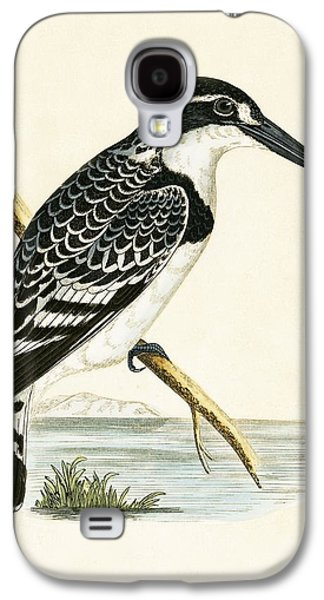 Black And White Kingfisher Galaxy S4 Case by English School
