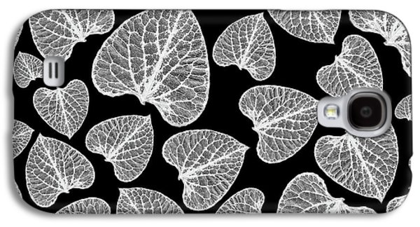 Black And White Leaf Abstract Galaxy S4 Case