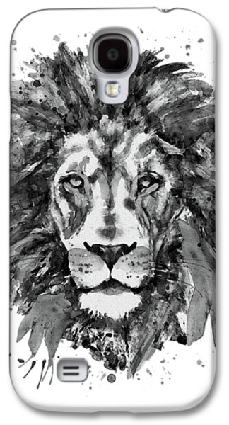 Black And White Lion Head  Galaxy S4 Case by Marian Voicu