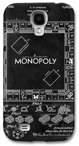 Black And White Monopoly Game Patent Galaxy S4 Case
