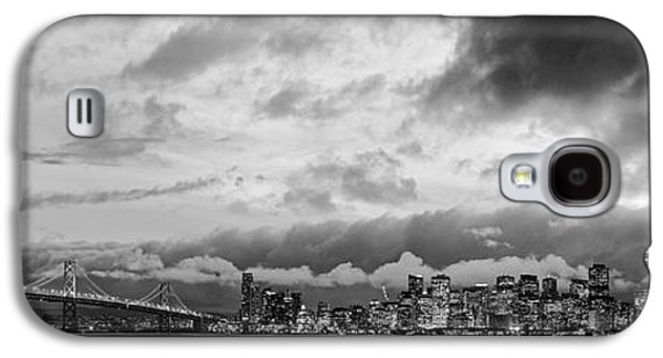 Black And White Panorama Of San Francisco Skyline And Oakland Bay Bridge From Treasure Island  Galaxy S4 Case
