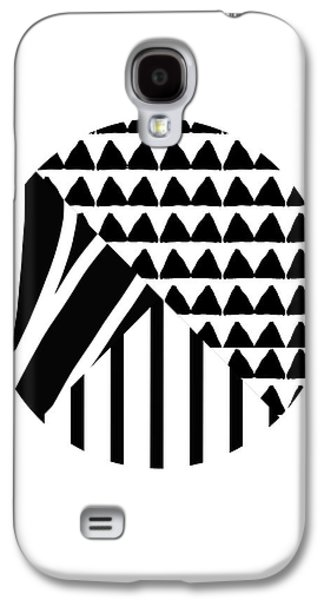 Black And White Patchwork Pattern Ball- Art By Linda Woods Galaxy S4 Case