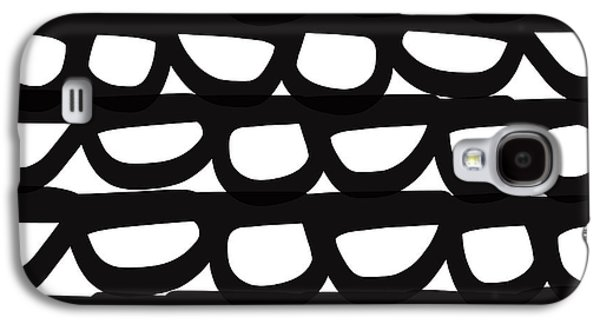 Black And White Pebbles- Art By Linda Woods Galaxy S4 Case