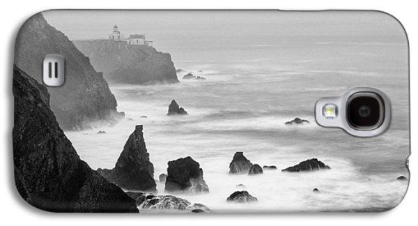 Black And White Photograph Of Point Bonita Lighthouse - Marin Headlands San Francisco California Galaxy S4 Case by Silvio Ligutti