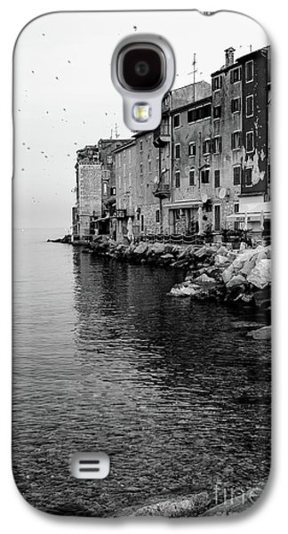 Black And White - Rovinj Venetian Buildings And Adriatic Sea, Istria, Croatia Galaxy S4 Case