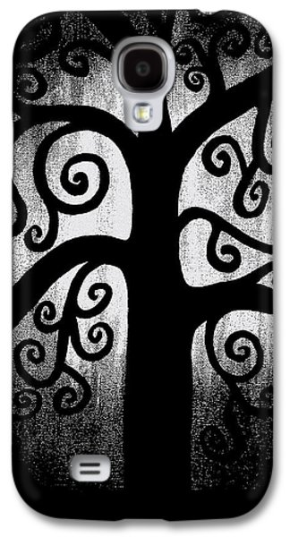 Abstract Expression Galaxy S4 Cases - Black and White Tree Galaxy S4 Case by Angelina Vick