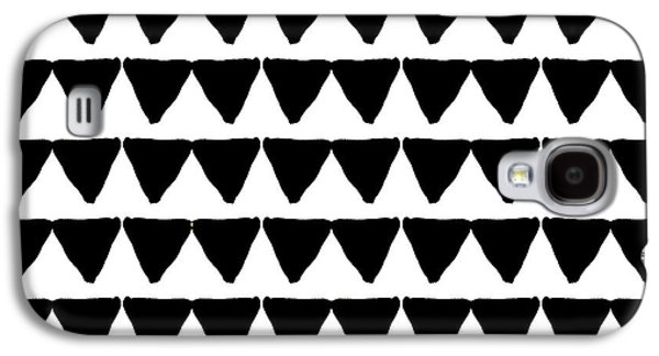 Black And White Triangles- Art By Linda Woods Galaxy S4 Case by Linda Woods