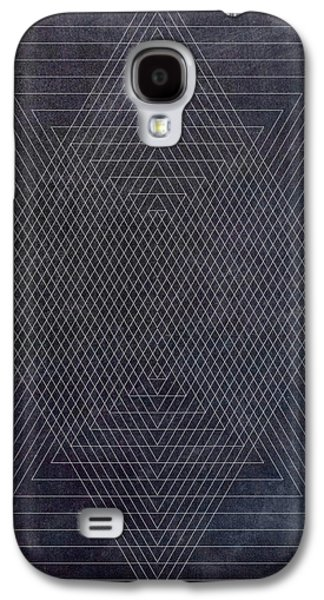 Black And White Triangular Line Art Galaxy S4 Case