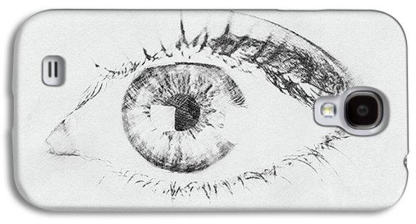Black And White Woman Eye Galaxy S4 Case