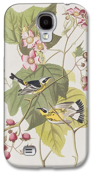 Warbler Galaxy S4 Case - Black And Yellow Warblers by John James Audubon