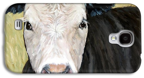 Black Angus Cow Steer White Face Galaxy S4 Case