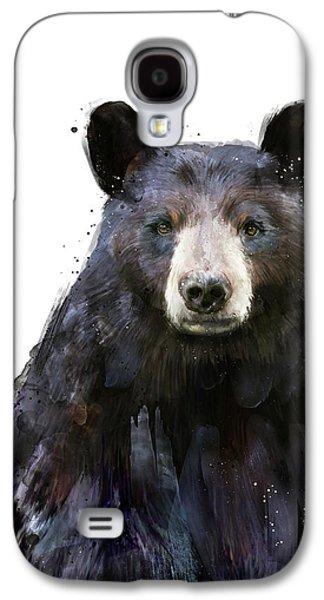 Bear Galaxy S4 Case - Black Bear by Amy Hamilton