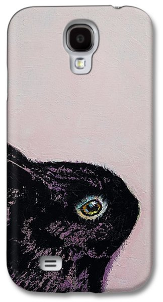 Black Bunny Galaxy S4 Case by Michael Creese