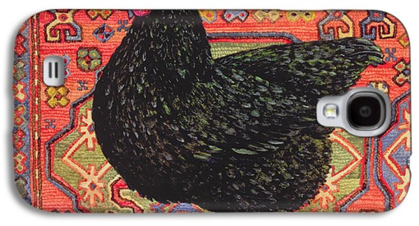 Black Carpet Chicken Galaxy S4 Case by Ditz