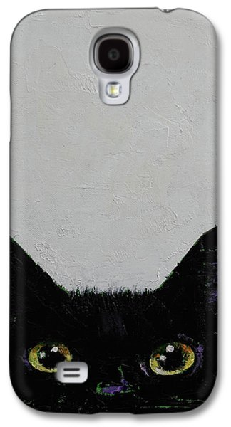 Black Cat Galaxy S4 Case by Michael Creese
