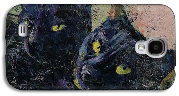 Black Cats Galaxy S4 Case by Michael Creese