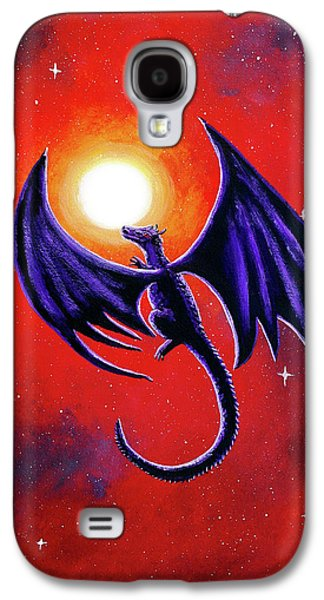 Black Dragon In A Red Sky Galaxy S4 Case by Laura Iverson