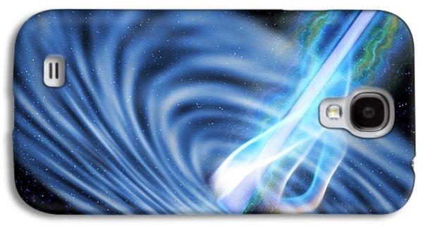 Black Hole Radiation Galaxy S4 Case