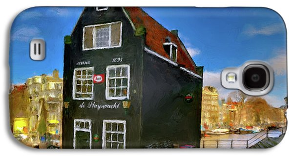 Black House In Jodenbreestraat #1. Amsterdam Galaxy S4 Case by Juan Carlos Ferro Duque