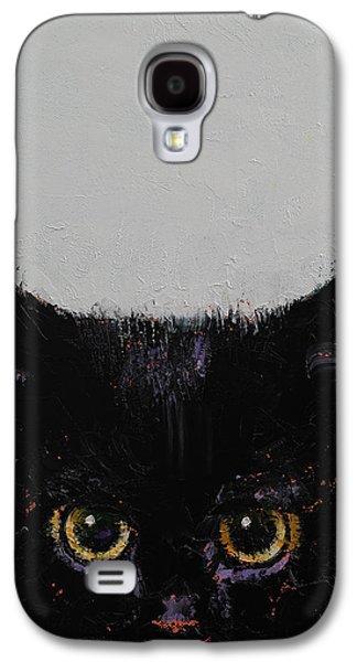 Black Kitten Galaxy S4 Case by Michael Creese