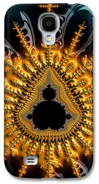 Black Mandelbrot Set Surrounded By Luxe Golden And Brown Tones Galaxy S4 Case