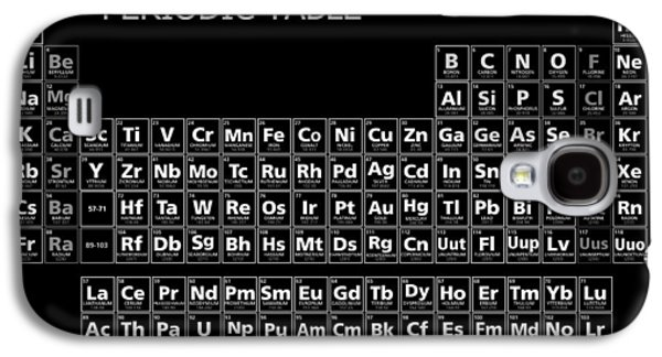 Black Mirror Periodic Table Minimal Galaxy S4 Case by Daniel Hagerman