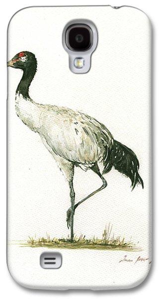 Crane Galaxy S4 Case - Black Necked Crane by Juan Bosco