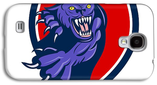 Black Panther Attacking Claws Crest Retro Galaxy S4 Case