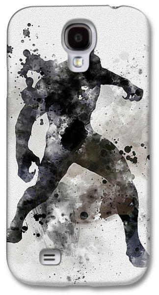 Black Panther Galaxy S4 Case by Rebecca Jenkins