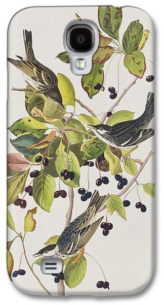 Warbler Galaxy S4 Case - Black Poll Warbler by John James Audubon