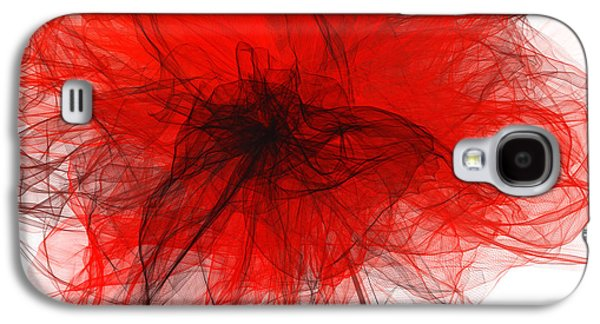 Black Red And Gray Art Galaxy S4 Case by Lourry Legarde