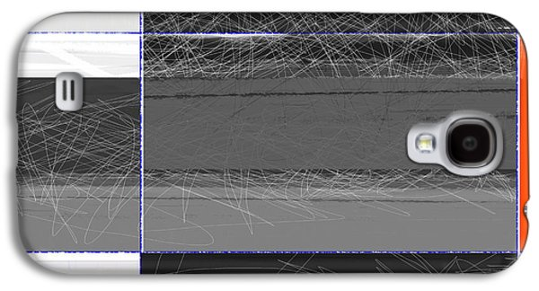 Black Square Galaxy S4 Case by Naxart Studio