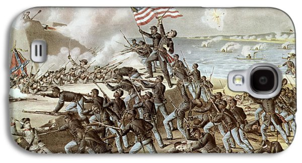 Black Troops Of The Fifty Fourth Massachusetts Regiment During The Assault Of Fort Wagner Galaxy S4 Case by American School