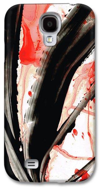 Black White Red Art - Tango 2 - Sharon Cummings Galaxy S4 Case