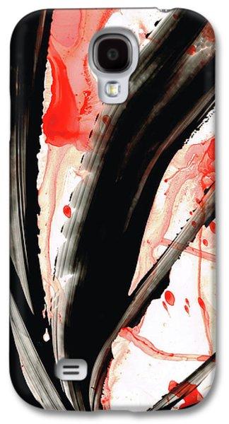 Black White Red Art - Tango 2 - Sharon Cummings Galaxy S4 Case by Sharon Cummings