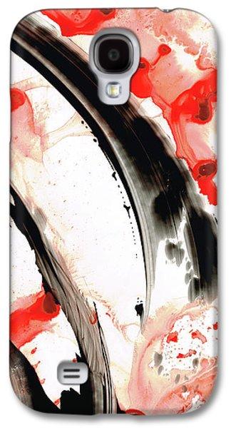 Black White Red Art - Tango 3 - Sharon Cummings Galaxy S4 Case by Sharon Cummings