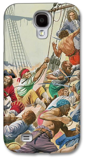 Blackbeard And His Pirates Attack Galaxy S4 Case by Peter Jackson