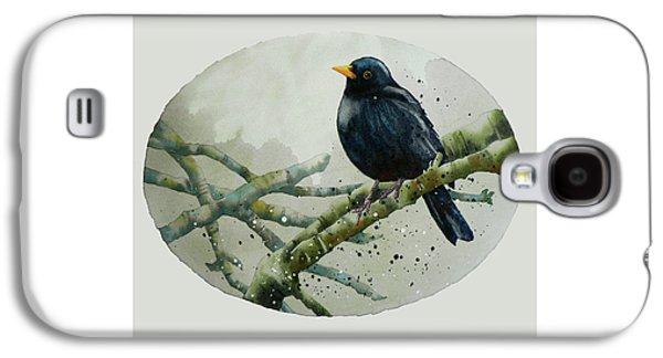 Blackbird Painting Galaxy S4 Case