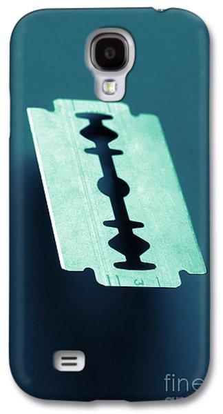Blade On Blue Galaxy S4 Case by Carlos Caetano