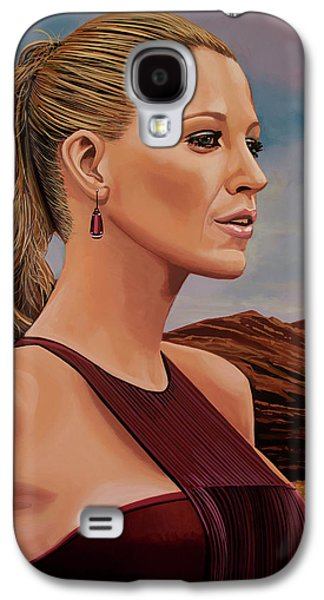 Blake Lively Painting Galaxy S4 Case by Paul Meijering