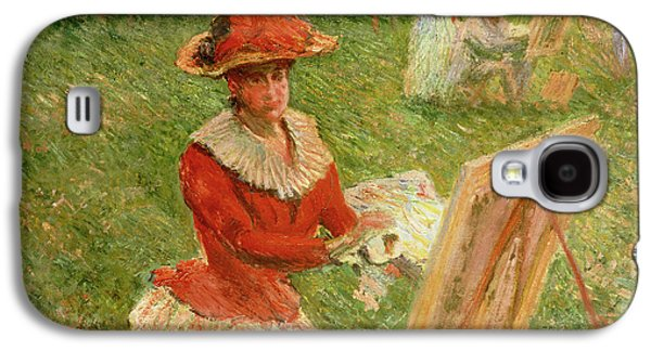 Blanche Hoschede Painting Galaxy S4 Case by Claude Monet