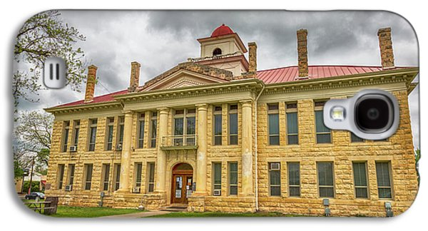 Blanco County Tx Courthouse  Galaxy S4 Case by Stephen Stookey