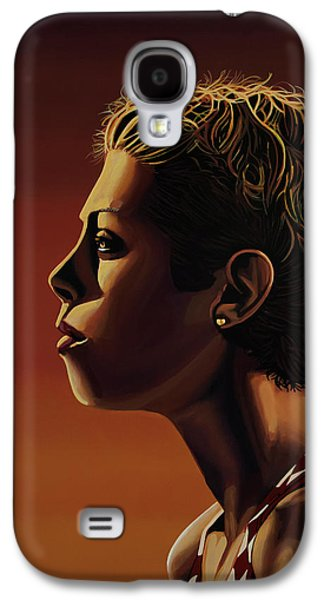 Blanka Vlasic Painting Galaxy S4 Case by Paul Meijering