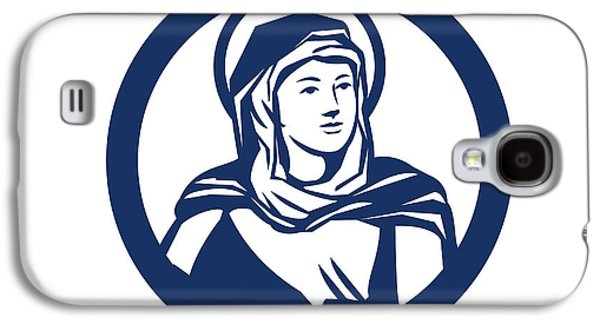 Blessed Virgin Mary Circle Retro Galaxy S4 Case