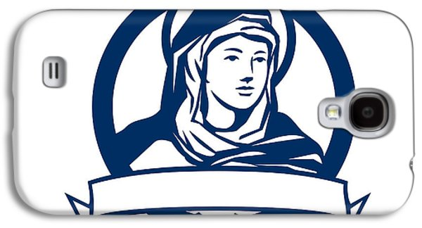 Blessed Virgin Mary Scroll Retro Galaxy S4 Case