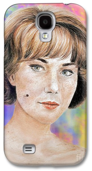 Blonde Beauty With Bangs II Galaxy S4 Case by Jim Fitzpatrick