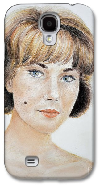 Blonde Beauty With Bangs Galaxy S4 Case by Jim Fitzpatrick