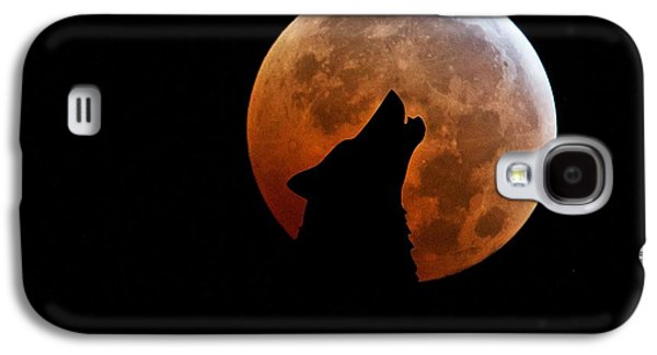 Blood Full Moon And The Wolf Galaxy S4 Case by Marianna Mills