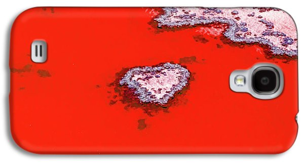 Helicopter Galaxy S4 Case - Blood Red Heart Reef by Az Jackson